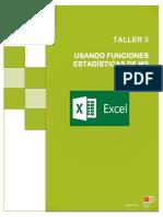 TALLER EXCEL 3 Funciones Estadisticas