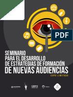 Convocatoria Seminario para el Desarrollo de Estrategias de Formación de Nuevas Audiencias