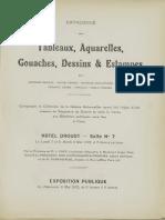 Tableaux, Aquarelles, Gouaches, Dessins & Estampes