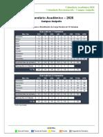V15 - CALENDÁRIO ACADÊMICO - 2020 - Câmpus Anápolis - Reestruturado