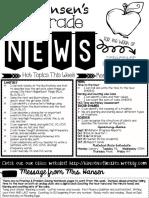 september 14-18th 2020 week 5 newsletter