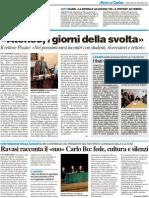 """""""Ateneo, i giorni della svolta"""" / Ravasi racconta il """"suo"""" Carlo Bo - Il Resto del Carlino del 26 gennaio 2011"""