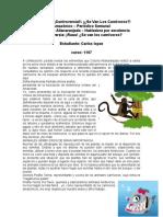 ACTIVIDAD 1 DEL MODULO CONTROVERSIA, SE VAN LOS CARNIVOROS (Primera parte)