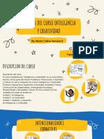 Syllabus del curso Inteligencia y Creatividad