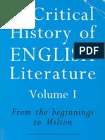 A Critical History of English Literature Vol I