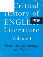 A Critical History of English Literature Vol I