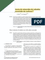 Reducción directa de minerales de celestita