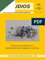 JUAN RUSSO (2020), PANDEMIA Y DEMOCRACIA EN MEXICO, REVISTA Estudios 44, NUMERO COMPLETO