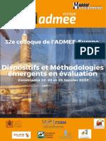Programme détaillé Admee 2020