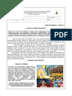 SEMANA 2 - LÍNGUA PORTUGUESA - OBRAS LITERÁRIAS E PINTURAS.