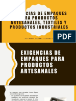 exigencias de empaques para productos artesanales, textiles
