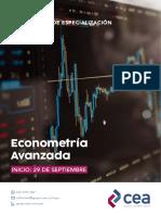 Brochure Econometría Avanzada