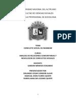 monografia de conflicto social de inambari