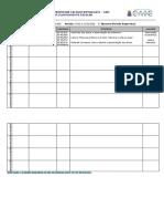 Planilha de plano de aula - modelo