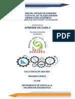2DO GRADO CLAVE INSTRUMENTO DE APOYO AL DIAGNÓSTICO  DCYA 20-21