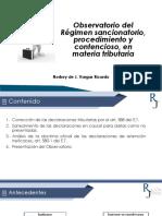 Observatorio del Régimen sancionatorio, procedimiento y contencioso