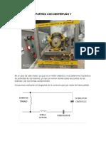 Motor monofasico didactico de fase partida con centrifugo y condensador