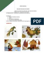 4. COLLAGE CON HOJAS DE PLANTAS