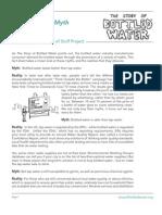 Story of Bottled Water Myth v Reality