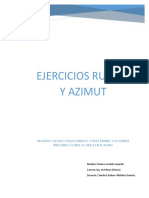 topografia azimut y rumbo ejercicios.pdf