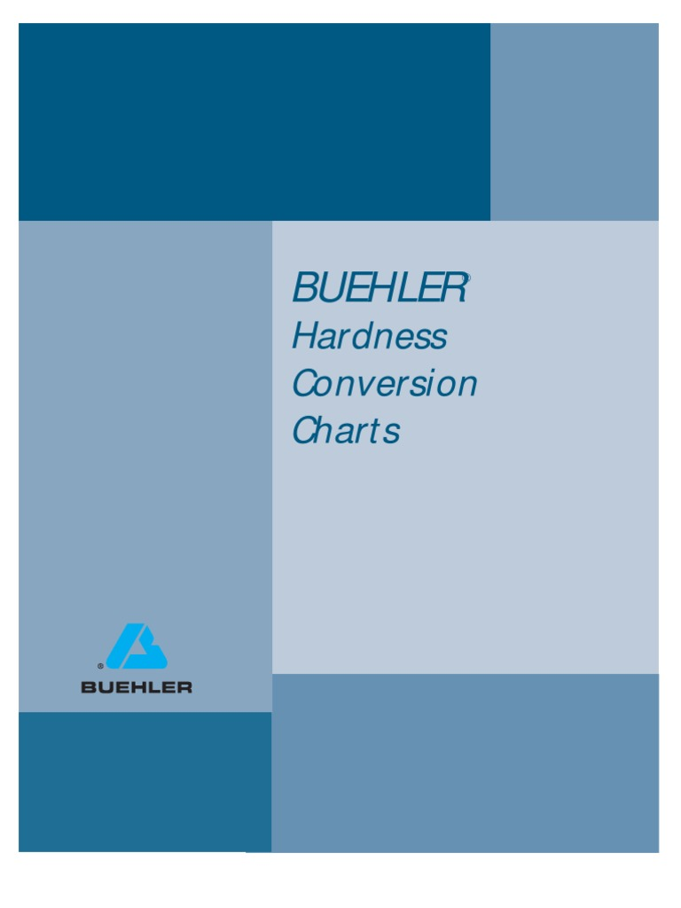 Buehler Hardness Conversion Charts