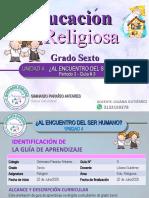 RELIGION 6 - GUIA 3- 3 Periodo 1