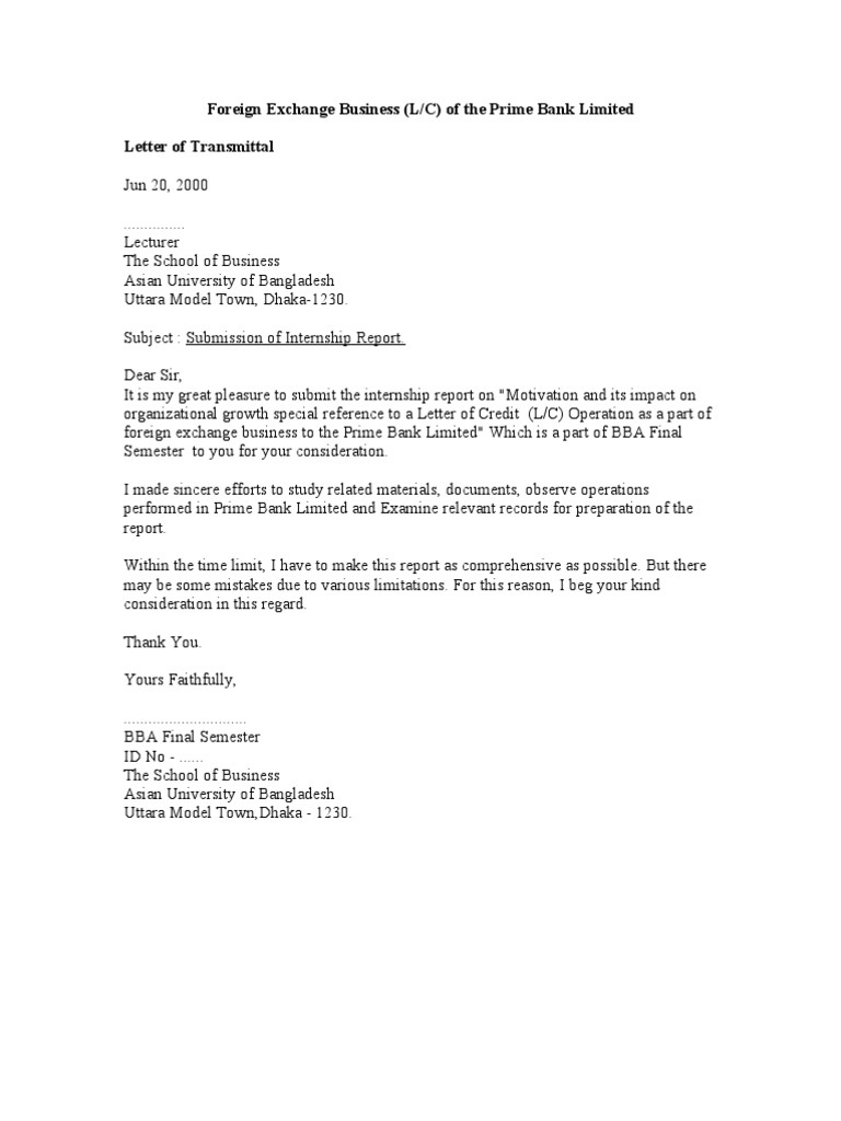 Prime Bank Word Document Letter Of Credit Invoice