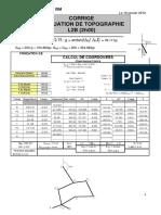 Evaluation Topographie Corrigé