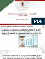 2.2 Productividad en colombia 2018