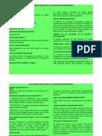 CUESTIONARIO PROTOZOOS  & CUADRO DE ENFERMEDADES