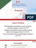 Sesi 1 Pengantar OT Keamanan Pangan & HACCP 2020 FINAL