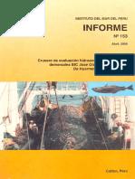 comportamiento de la red de arrastre en el fondo IMARPE III. JOSE oLAYA