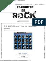 THE BEATLES - And I Love Her [traducida al español] - EL TRADUCTOR DE ROCK