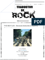 THE BEATLES - Because [traducida al español] - EL TRADUCTOR DE ROCK