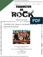 THE BEATLES - Being For the Benefit of Mr. Kite! [traducida al español] - EL TRADUCTOR DE ROCK