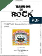 THE BEATLES - Blue Jay Way [traducida al español] - EL TRADUCTOR DE ROCK