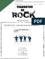 THE BEATLES - Yesterday [traducida al español] - EL TRADUCTOR DE ROCK