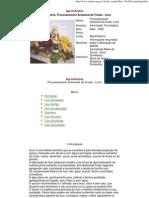 processamento artesanal de frutas - licor