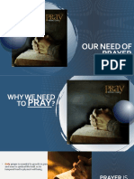 OUR NEED OF PRAYER [Autosaved]