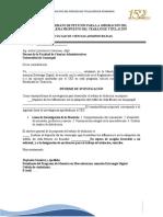 Anexo 1. Propuesta de tema titulación para aprobación