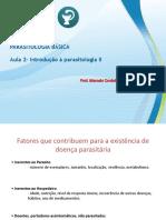 Introdução II e Malária Parasitologia