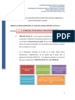 Orientciones  para elaboración del Manual