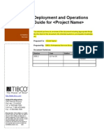 TIBCO PSG Deployment and Operations Guide Template