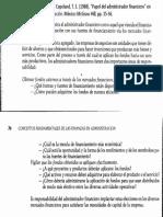 """04) Weston, J. Fred., y Copeland, T. E. (1988). """"Papel del administrador financiero"""" en Finanzas en administración. México McGraw Hill, pp. 35-36"""