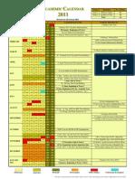 Academic Calendar 2011 Revised