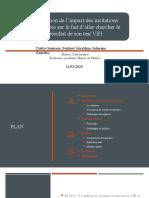 projet valuation d'impact