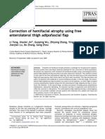 Correction of Hemifacial Atrophy Using free Anterolateral Thigh Adipofascial Flap