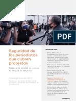 Informe UNESCO Seguridad Periodistas 2020