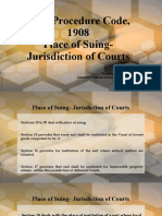 CPC - Jurisdiction of the Courts