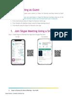 Skype for Business Guide for External Meetings